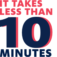 It Takes Less Than 10 Minutes